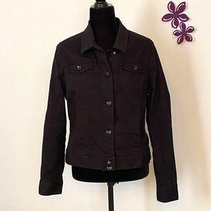 Black Cotton Jean Jacket  Size Large by George
